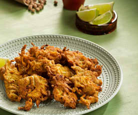 Fritos de cebolla (Bhaji) - India