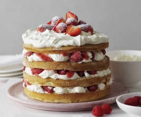 Berries and Cream Layer Cake