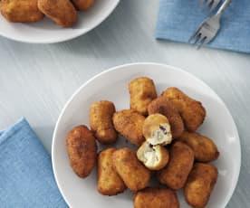 Croquetas con harina comercial (sin gluten)