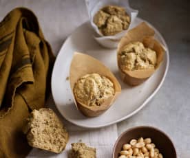 Pão de claras, aveia e amendoim sem glúten