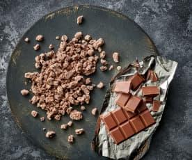 Chocolate con leche rallado grueso (70-100 g)
