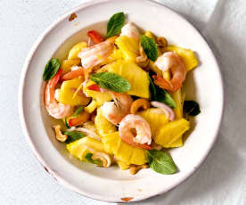Salade de crevettes à l'ananas et au gingembre