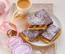 Shortbread mit Kokos-Toffee, Mandeln und Schokolade