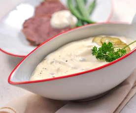 Tatarská omáčka z bezvaječné majonézy