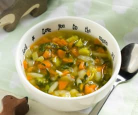 Vegetable and Pasta Soup (12-18 months)