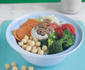 Quinoa and Vegetable Bowl with Tahini Dressing
