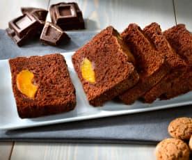 Plumcake con cioccolato e pesche