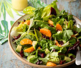 Hawaiian Salad with Honey and Lime Dressing