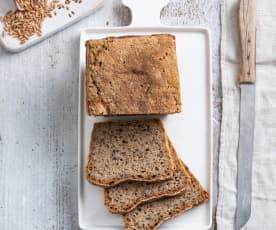 Chleb żytni na zakwasie z siemieniem lnianym