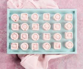 Frozen Keto Strawberry Cheesecake Fat Bombs