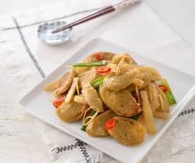 榨菜炒麵腸