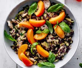 Venere-Reis-Salat mit Poulet