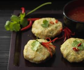 Croquette de poisson vapeur à la Thai