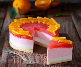 Yogurt mousse cake all'arancia