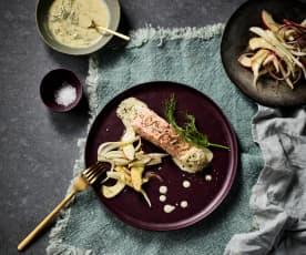 Lachs mit Fenchel-Apfel-Salat