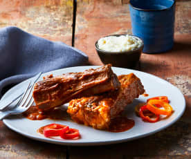 Costine di manzo a Cottura Lenta con salsa ai fichi