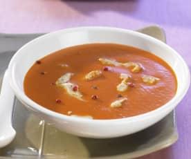 Tomatensuppe mit Geflügel