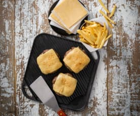 Homemade cheese slices