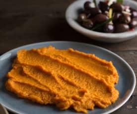 Pasta z pieczonej marchewki z kuminem