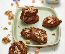 Čokoládovo-banánové sušenky s cizrnou