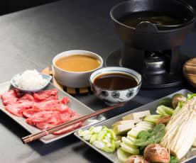 Shabu shabu (fondue japonesa)