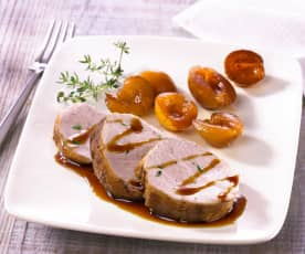Veal fillet with mirabelle plums