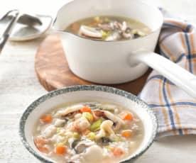 野菇海鮮粥