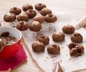 Galletas de crema de cacao y avellanas