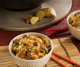 Arroz frito con ternera - China