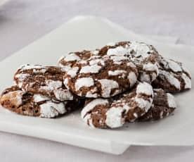Galletas de chocolate craqueladas