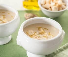 Sopa griega de garbanzos