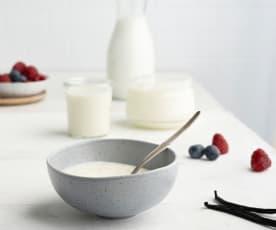 Iogurte natural com natas