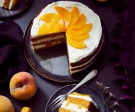 Möhren-Pfirsich-Torte