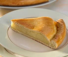 Französischer Hefekuchen mit Vanillecreme