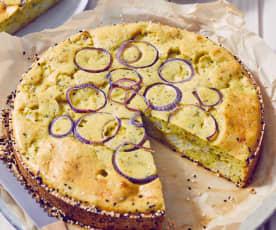 Herzhafter Blumenkohl-Kuchen