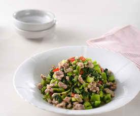 自製醃菜炒肉末