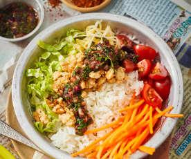 Thai-Hähnchen-Bowl