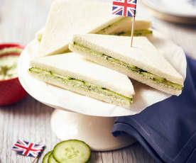 Apfel-Gurken-Sandwiches