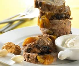 Rollo de carne de ternera con frutos secos