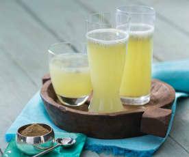 Sabja shikanji (traditional lemonade)