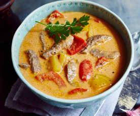 Paprika-Rindfleisch-Eintopf