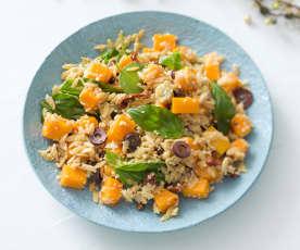 Pumpkin and antipasto risoni salad