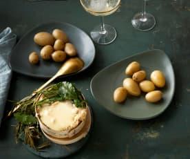 Vacherin mit Kräutern und Kartoffeln
