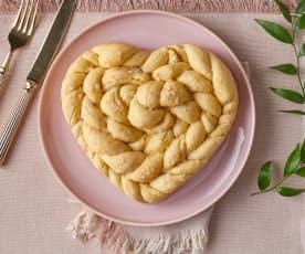 Cuore di pane intrecciato (senza lattosio)