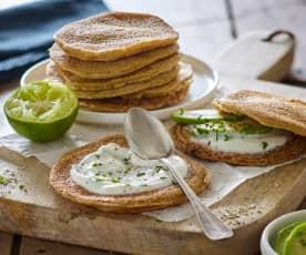Tortitas o blinis de salvado de avena (sin lactosa)