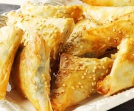 Crujientes de espinacas con roquefort