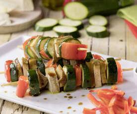 Spiedini di seitan e verdure