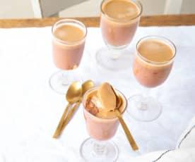 Crème au chocolat, gelée de café