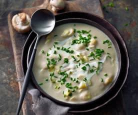Gnocchi-Pilz-Rahmsuppe
