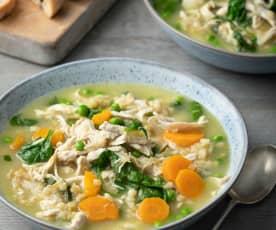 Zuppa di orzo e pollo